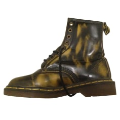 Bottines & low boots plates DR. MARTENS Marron