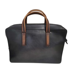 Briefcase, folder BERLUTI Brown