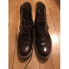 Bottines & low boots plates KICKERS Rouge, bordeaux