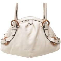 Leather Handbag SALVATORE FERRAGAMO White, off-white, ecru