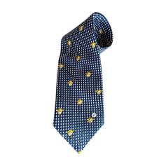 Tie VERSACE Blue, navy, turquoise