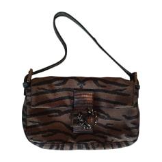 Non-Leather Handbag FENDI Baguette Brown