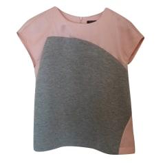 Top, tee-shirt TARA JARMON rose gris chiné
