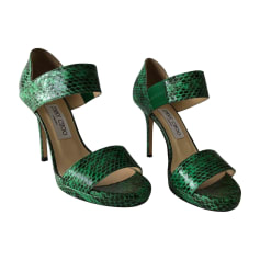 Sandales à talons JIMMY CHOO Vert