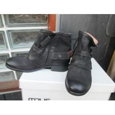 Bottines & low boots plates MJUS Noir