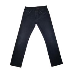 Pantalone slim PRADA Blu, blu navy, turchese