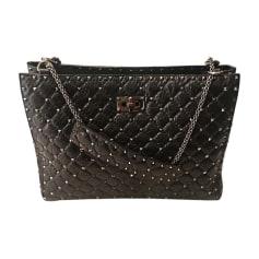 Leather Oversize Bag VALENTINO Black