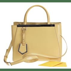Leather Handbag FENDI 2Jours Yellow