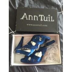 Escarpins à bouts ouverts ANN TUIL Bleu, bleu marine, bleu turquoise