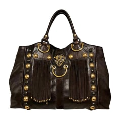 Leather Handbag GUCCI Brown