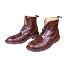Boots GRENSON Red, burgundy