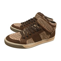 Baskets LANVIN Camel / Marron