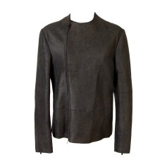 Leather Zipped Jacket EMPORIO ARMANI Brown