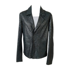 Leather Jacket EMPORIO ARMANI Green