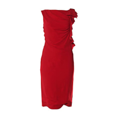 Midi Dress VALENTINO Red, burgundy