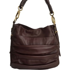 Sac XL en cuir DIOR Marron