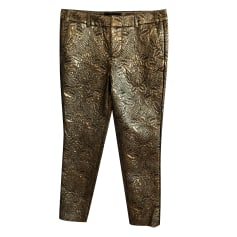 Straight Leg Pants ZADIG & VOLTAIRE Golden, bronze, copper