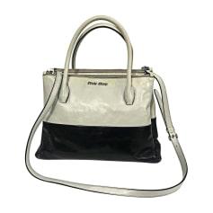 Leather Handbag MIU MIU Blanc noir