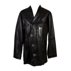 Leather Coat OLIVER SWEENEY Black