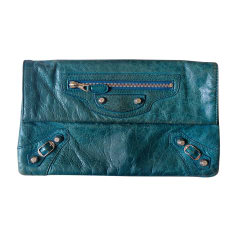 Clutch BALENCIAGA Blue, navy, turquoise