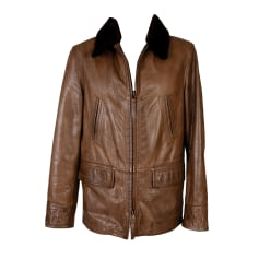 Leather Zipped Jacket OLIVER SWEENEY Brown
