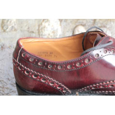 Lace Up Shoes BARKER Red, burgundy