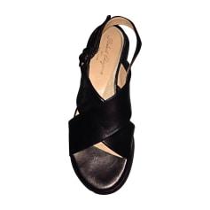 Wedge Sandals ROBERT CLERGERIE Black