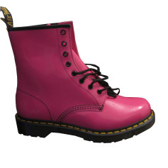 Bottines & low boots plates DR. MARTENS Rose, fuschia, vieux rose