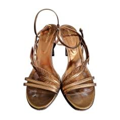 Heeled Sandals SERGIO ROSSI Golden, bronze, copper