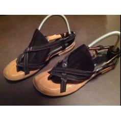 Sandales plates  AIRSTEP Noir