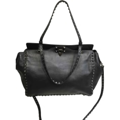 Leather Handbag VALENTINO Black
