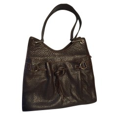 Leather Handbag LANCEL Brown
