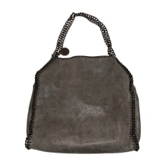 Leather Handbag STELLA MCCARTNEY Gray, charcoal
