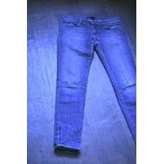 Pantalon slim, cigarette MAJE Bleu, bleu marine, bleu turquoise