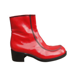 Bottines & low boots motards FREE LANCE Rouge, bordeaux