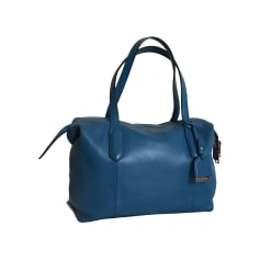 Leather Handbag LANCEL Bleu Paon