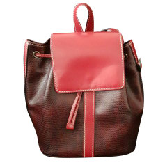 Backpack LANCEL Red, burgundy