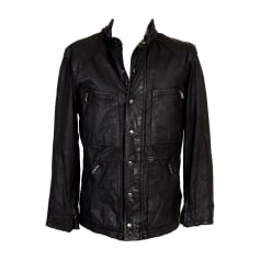 Leather Zipped Jacket MULBERRY Black