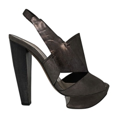 Heeled Sandals NICHOLAS KIRKWOOD Gray, charcoal