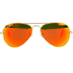 Sunglasses RAY-BAN Golden, bronze, copper