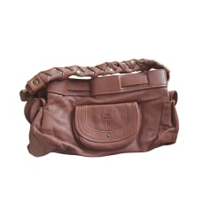 Leather Handbag JEROME DREYFUSS Beige, camel