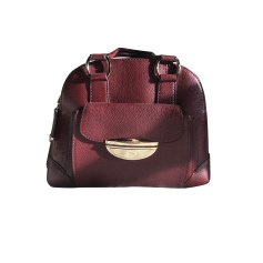Leather Handbag LANCEL Red, burgundy