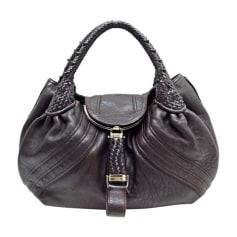Leather Handbag FENDI Brown