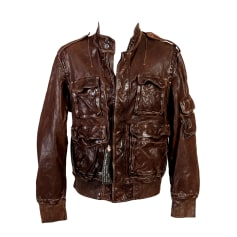 Leather Zipped Jacket NICOLE FAHRI Brown