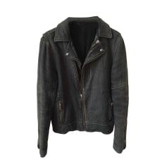 Leather Zipped Jacket IRO Black