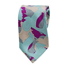 Cravatta LANVIN Blu, blu navy, turchese