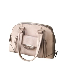 Leather Handbag LANCEL White, off-white, ecru