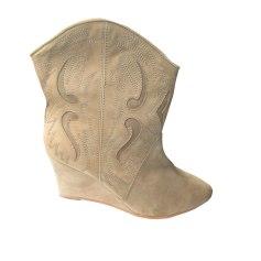 41d57dede58b Wedge Ankle Boots COMPTOIR DES COTONNIERS Beige