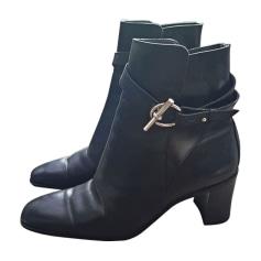 Bottines & low boots à talons HERMÈS Noir