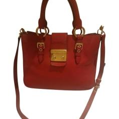 Leather Handbag MIU MIU Red, burgundy